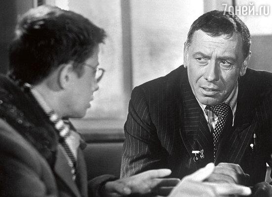 Александр Демьяненко с Анатолием Папановым в фильме «Порожний рейс». 1962 г.