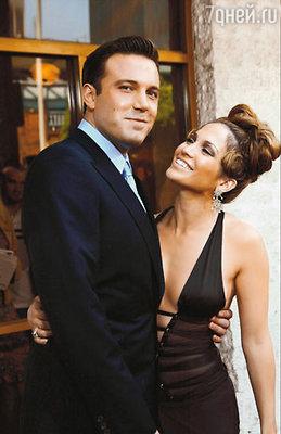 С Дженнифер Лопес на премьере фильма «Джильи».Лос-Анджелес, 2003 г.