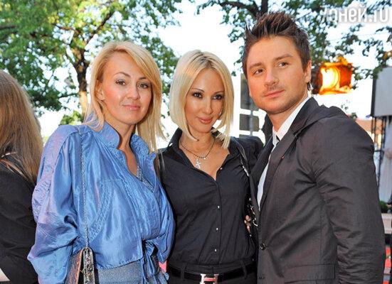 Яна Рудковская, Лера Кудрявцева и Сергей Лазарев