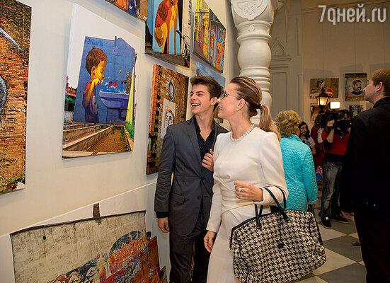 Марина Газманова с сыном Филиппом