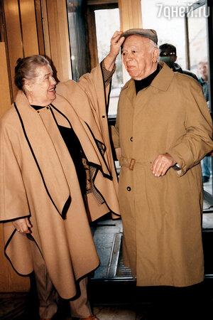 Валентин Плучек с женой