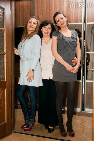 Елена Папанова с дочерьми