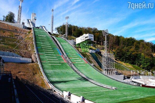 Лыжные трамплины на Красной Поляне