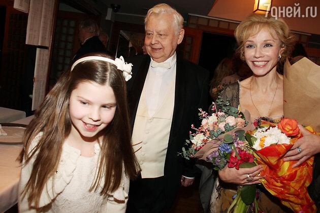 Марина Зудина, Олег Табаков, Маша Табакова