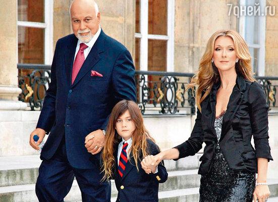 Селин Дион с мужем Рене Анжелилом и сыном Рене-Шарлем