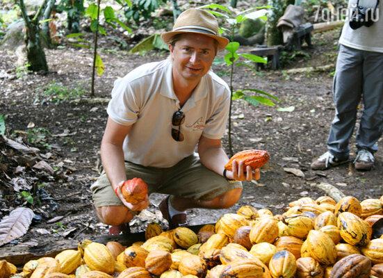 Ведущий программы «Сладкие истории» на телеканале «Домашний» Александр Селезнёв посетил Бразилию по приглашению крупнейшего концерна по производству профессионального шоколада