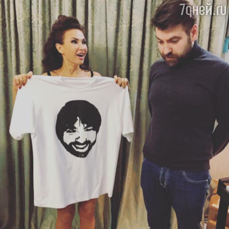 Эвелина Блёданс с мужем Александром