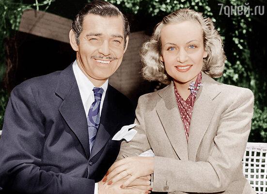 Единственной женщиной, которую Кларк Гейбл действительно любил, считается его третья жена Кэрол Ломбард