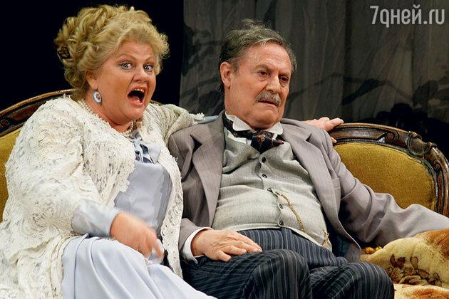 Ирина Муравьева и Юрий Соломин в спектакле «Чайка». 2009 г.