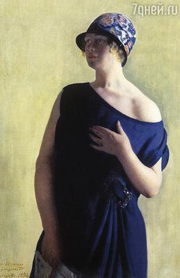 Борис Михайлович гордился своей дочерью Ириной, она принадлежала к тому типу женщин, которых он так любил изображать на своих картинах... «Портрет И.Б. Кустодиевой», 1926 г.