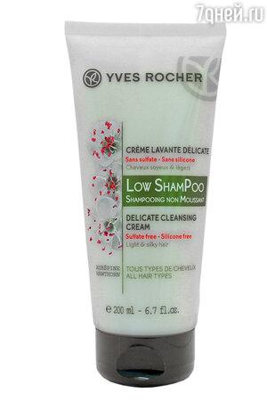 Мягкий крем для мытья волос с боярышником Low ShamPoo от Yves Rocher