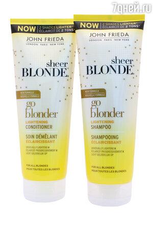 Шампунь и кондиционер Sheer Blonde от John Frieda
