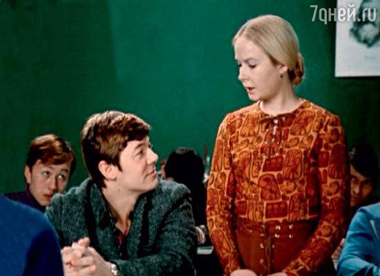 В фильме «Большая перемена» с Наталией Богуновой. 1973 г.