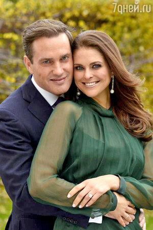Принцесса Швеции Мадлен и Крис О'Нил