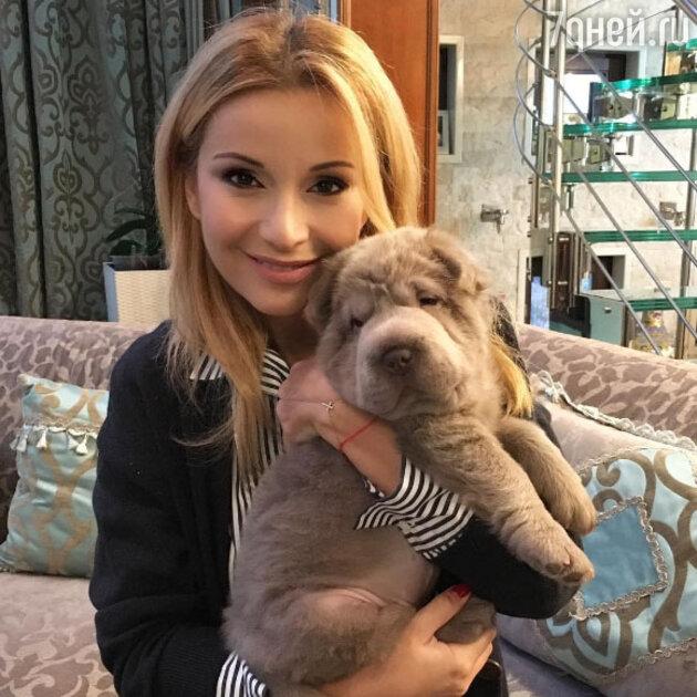 Ольга Орлова с новым питомцем