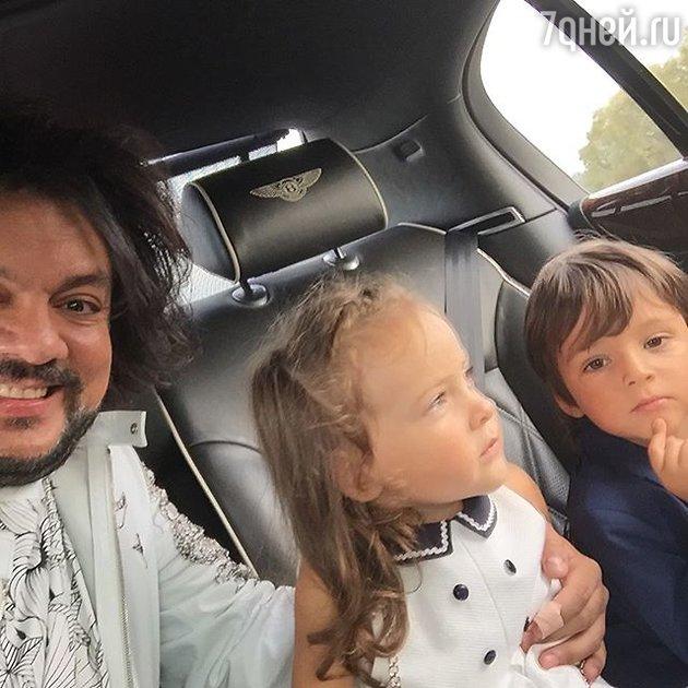 Филипп Киркоров с  Аллой-Викторий и сыном Мартином