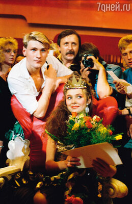 Анжелика Агурбаш — победительница конкурса «Мисс Белоруссия». 1988 г.