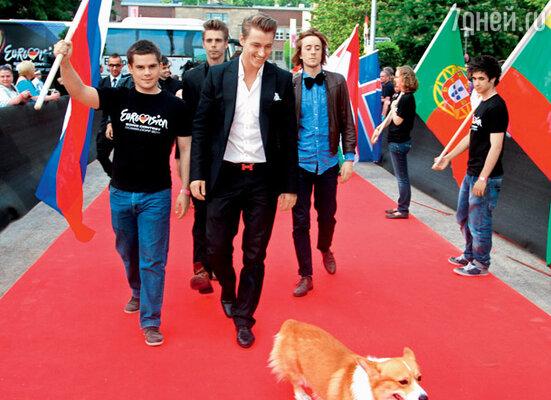 На конкурсе «Евровидение» в Дюссельдорфе. Май 2011 г.