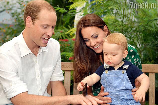 Принц Уильям и Кейт Миддлтон с сыном принцем Джорджем