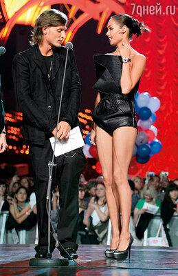 Мы с Пашей на церемонии вручения премии «МУЗ-ТВ 2010»