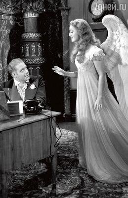 Джанет Макдональд первой воплотила в кино образ ангела (с Нельсоном Эдди в фильме «Я женился на ангеле»). 1942 г.