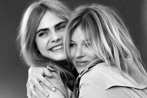 Кейт Мосс и Кара Делевинь снялись в рекламе парфюма