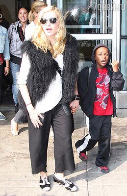 Мадонна с сыном Дэвидом Ричи