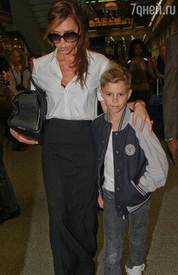Виктория Бекхэм с сыном Ромео