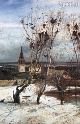 Третьяков за картину «Грачи прилетели» дал Саврасову шестьсот рублей, и художник очень обрадовался — в училище он столько зарабатывал за год