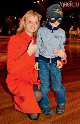 Светлана Хоркина с сыном Славой