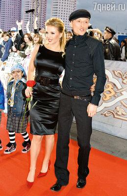 С Анной Семенович на вручении премий MTV. 2007 г.