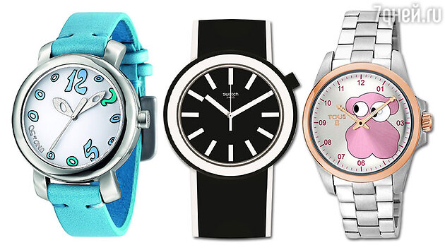Часы: Uno de 50, Swatch, Tous