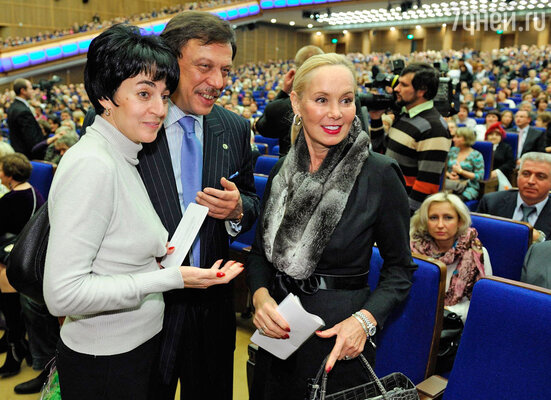 Михаил Барщевский с женой, Нелли Кобзон