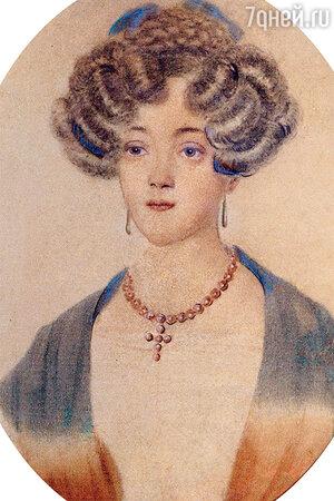 Фото репродукции портрета Екатерины Николаевны Гончаровой. Музей-заповедник «Полотняный завод»