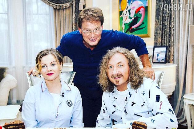 Юлия Проскурякова, Игорь Николаев и Евгений Додолев