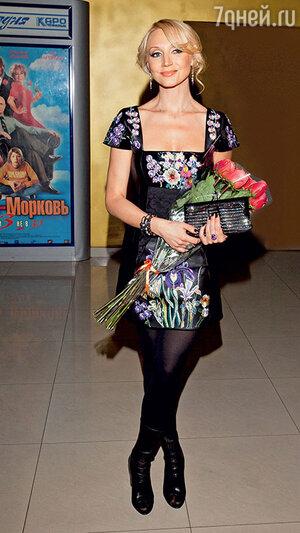 Кристина Орбакайте на премьере фильма «Любовь-морковь 3». 2011 г.