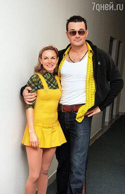 Егор Бероев с фигуристкой Екатериной Гордеевой в шоу «Ледниковый период»