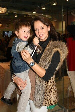 Ольга Кабо с сыном Витей