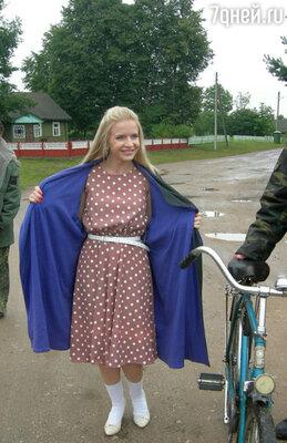 Юлия Михальчик на съемках клипа