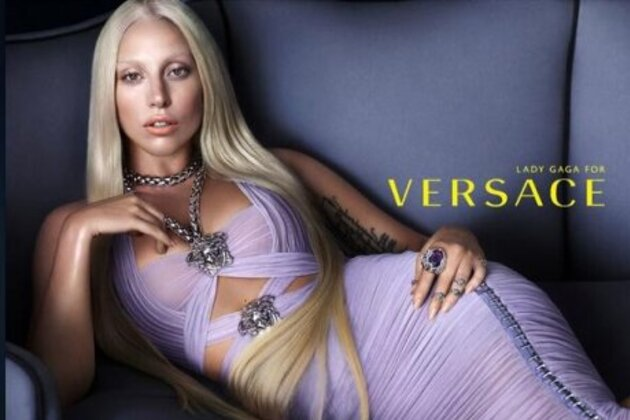 Леди Гага в рекламной кампании Versace весна-лето 2014