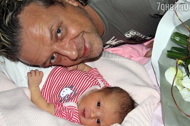 Роман Жуков с младшей дочерью Викторией