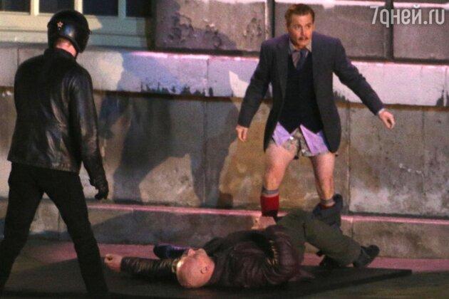 Джонни Депп на съемках нового фильма «Маккабрей» 2013