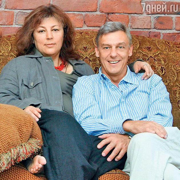 Александр Половцев с бывшей женой Юлией Соболевской. 2007 г.