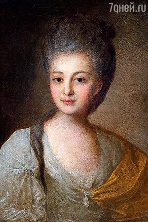 Фото репродукции портрета А.П. Струйской работы Ф. Рокотова, 1772 г.