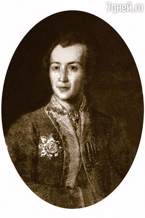 Фото репродукции портрета П.И. Репнина