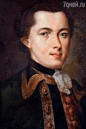 Фото репродукции портрета неизвестного работы Ф. Рокотова, 1757 г.