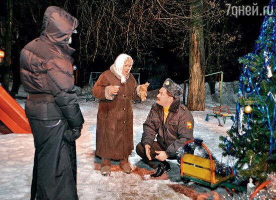 Галина Польских и Дмитрий Герасимов, сыгравший участкового, в перерывах обсуждали разницу между полицией и милицией