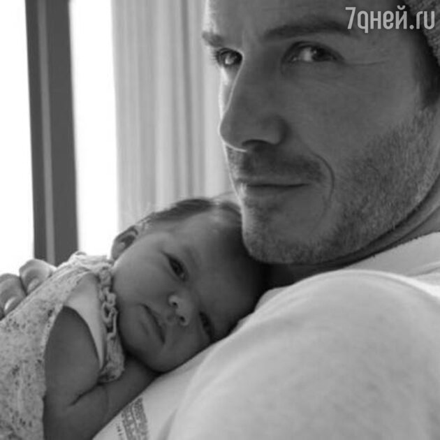 Дэвид Бекхэм с дочкой Харпер