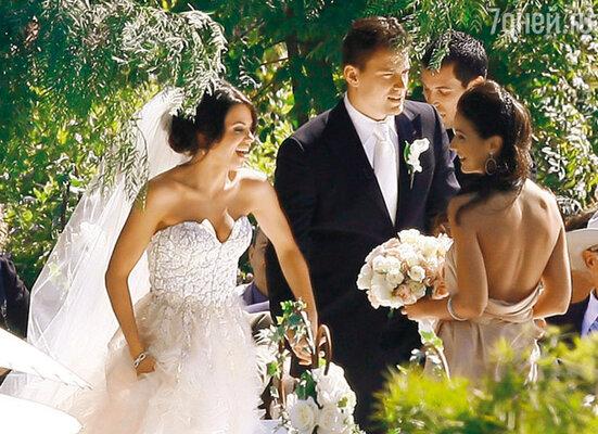 Во время свадебной церемонии. Малибу, 11 июля 2009 г.