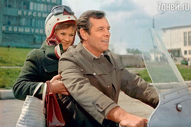 Георгий Жженов с Галиной Польских в фильме «Ищу мою судьбу». 1974 г.